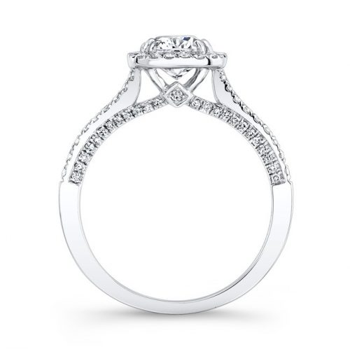 18K WHITE GOLD SPLIT SHANK SQUARE DIAMOND HALO ENGAGEMENT RING FM27076 18W 1 500x499 - 18K WHITE GOLD SPLIT SHANK SQUARE DIAMOND HALO ENGAGEMENT RING FM27076-18W