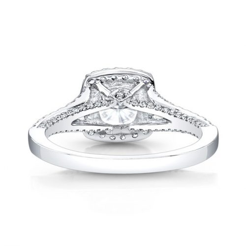 18K WHITE GOLD SPLIT SHANK SQUARE DIAMOND HALO ENGAGEMENT RING FM27076 18W 2 500x499 - 18K WHITE GOLD SPLIT SHANK SQUARE DIAMOND HALO ENGAGEMENT RING FM27076-18W