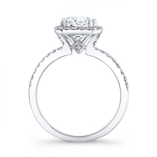18K WHITE GOLD SQUARE HALO BEZELSET DIAMOND ACCENT ENGAGEMENT RING FM26933 18W 1 500x500 - 18K WHITE GOLD SQUARE HALO BEZELSET DIAMOND ACCENT ENGAGEMENT RING FM26933-18W