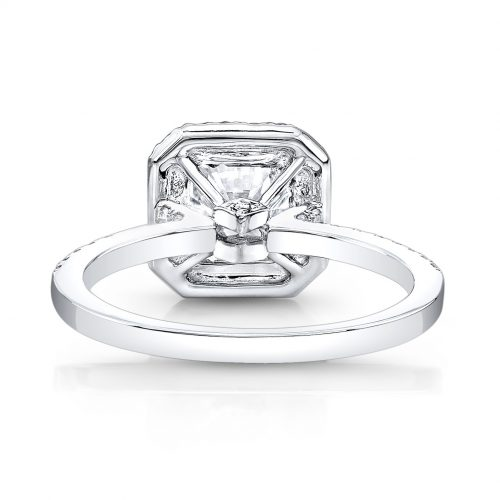 18K WHITE GOLD SQUARE HALO BEZELSET DIAMOND ACCENT ENGAGEMENT RING FM26933 18W 2 500x500 - 18K WHITE GOLD SQUARE HALO BEZELSET DIAMOND ACCENT ENGAGEMENT RING FM26933-18W
