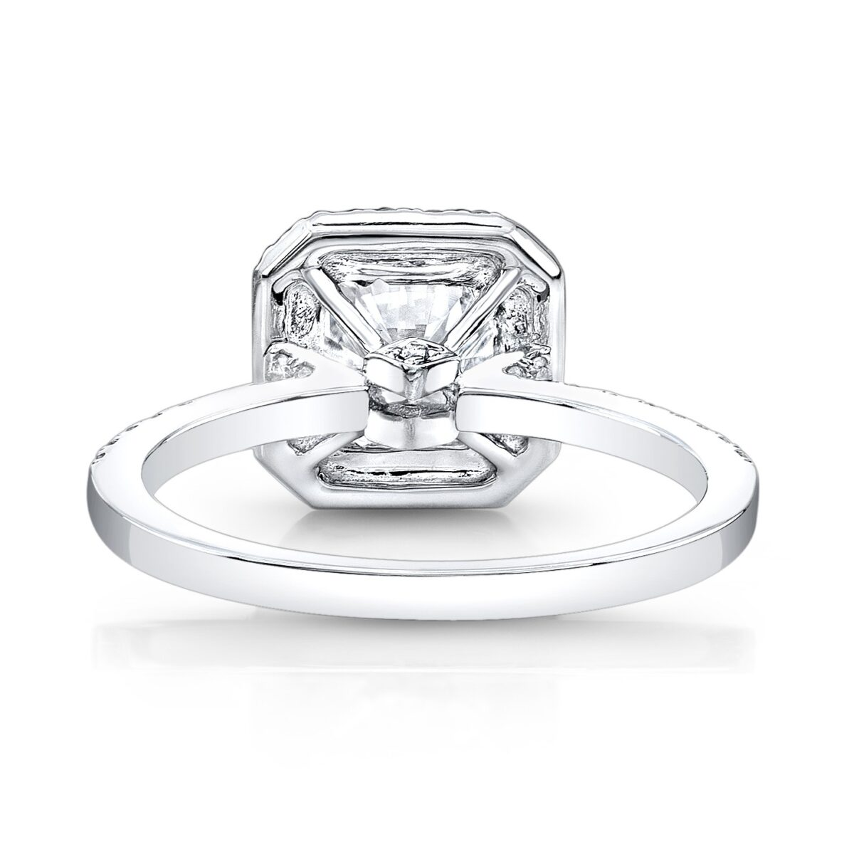 princess unique semi mount setting diamonds products halo img cut square ring engagement for stone rings carat center