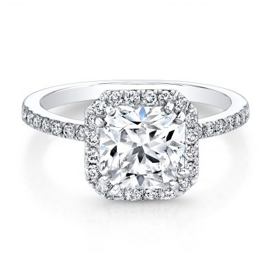 18K WHITE GOLD SQUARE HALO BEZELSET DIAMOND ACCENT ENGAGEMENT RING FM26933 18W 400x400 - 18K WHITE GOLD SQUARE HALO BEZELSET DIAMOND ACCENT ENGAGEMENT RING FM26933-18W
