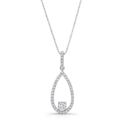 18K WHITE GOLD TEAR DROP PENDANT WITH DIAMOND BALE FM29120 18W 400x400 - 18K WHITE GOLD TEAR DROP PENDANT WITH DIAMOND BALE FM29120-18W