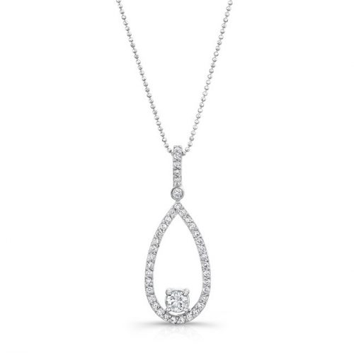 18K WHITE GOLD TEAR DROP PENDANT WITH DIAMOND BALE FM29120 18W 500x499 - 18K WHITE GOLD TEAR DROP PENDANT WITH DIAMOND BALE FM29120-18W