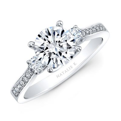 18K WHITE GOLD THREE STONE DIAMOND ENGAGEMENT RING NK29675 18W 400x400 - 18K WHITE GOLD THREE STONE DIAMOND ENGAGEMENT RING NK29675-18W
