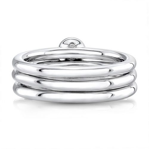18K WHITE GOLD THREE STONE STACKABLE BANDS FM29106 18W 1 500x499 - 18K WHITE GOLD THREE STONE STACKABLE BANDS FM29106-18W