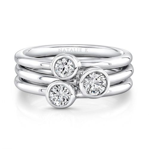 18K WHITE GOLD THREE STONE STACKABLE BANDS FM29106 18W 500x499 - 18K WHITE GOLD THREE STONE STACKABLE BANDS FM29106-18W