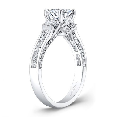 18K WHITE GOLD TRAPEZOID DIAMOND SIDE STONE PRINCESS CUT CHANNELSET SHANK ENGAGEMENT RING NK28716 18W 1 500x499 - 18K WHITE GOLD TRAPEZOID DIAMOND SIDE STONE PRINCESS CUT CHANNELSET SHANK ENGAGEMENT RING NK28716-18W