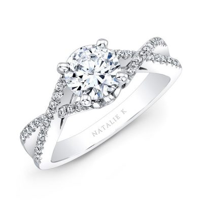 18K WHITE GOLD TWISTED SPLIT SHANK DIAMOND ENGAGEMENT SEMI MOUNT RING NK19582ENG 18W 400x400 - 18K WHITE GOLD TWISTED SPLIT SHANK DIAMOND ENGAGEMENT SEMI MOUNT RING NK19582ENG-18W