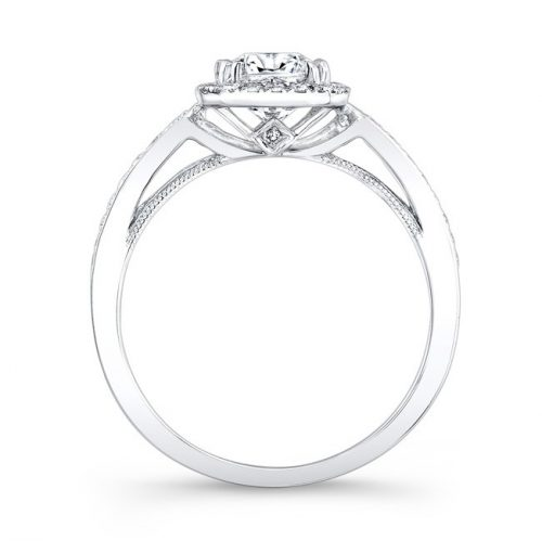 18K WHITE GOLD VINTAGE INSPIRED SQUARE DIAMONDS HALO ENGAGEMENT RING FM27012 18W 1 500x499 - 18K WHITE GOLD VINTAGE INSPIRED SQUARE DIAMONDS HALO ENGAGEMENT RING FM27012-18W