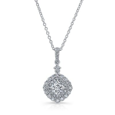 18K WHITE GOLD WHITE DIAMOND DOUBLE CUSHION HALO PENDANT FM31666 18W 400x400 - 18K WHITE GOLD WHITE DIAMOND DOUBLE CUSHION HALO PENDANT FM31666-18W
