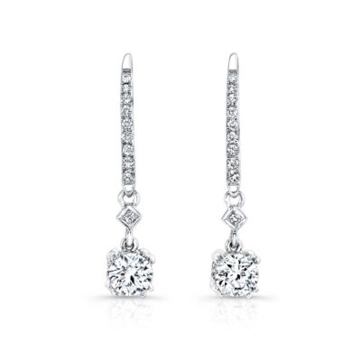 18K WHITE GOLD WHITE DIAMOND DROP EARRINGS FM27638 18W 400x400 - 18K WHITE GOLD WHITE DIAMOND DROP EARRINGS FM27638-18W