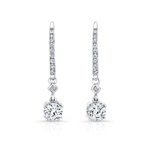 18K WHITE GOLD WHITE DIAMOND DROP EARRINGS FM27638 18W 500x499 - 18K WHITE GOLD WHITE DIAMOND DROP EARRINGS FM27638-18W
