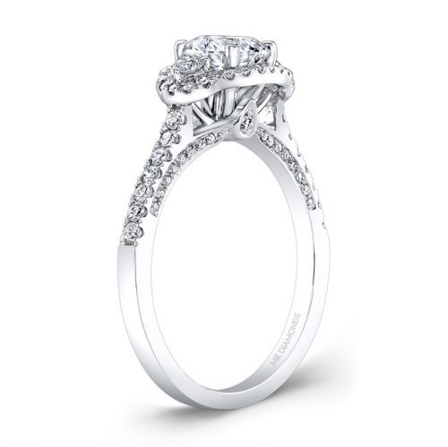 18K WHITE GOLD WHITE DIAMOND HALO AND SIDE STONE ENGAGEMENT RING NK28702 18W 1 500x499 - 18K WHITE GOLD WHITE DIAMOND HALO AND SIDE STONE ENGAGEMENT RING NK28702-18W