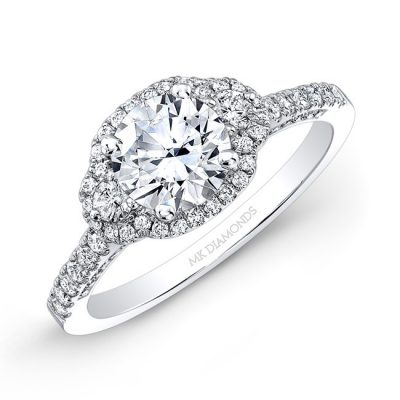 18K WHITE GOLD WHITE DIAMOND HALO AND SIDE STONE ENGAGEMENT RING NK28702 18W 400x400 - 18K WHITE GOLD WHITE DIAMOND HALO AND SIDE STONE ENGAGEMENT RING NK28702-18W