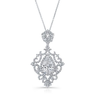 18K WHITE GOLD WHITE DIAMOND PEAR SHAPED CENTER FILIGREE PENDANT FM31096 18W 400x400 - 18K WHITE GOLD WHITE DIAMOND PEAR SHAPED CENTER FILIGREE PENDANT FM31096-18W