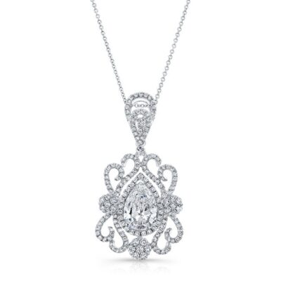 18K WHITE GOLD WHITE DIAMOND PEAR SHAPED CENTER FILIGREE PENDANT FM31097 18W 400x400 - 18K WHITE GOLD WHITE DIAMOND PEAR SHAPED CENTER FILIGREE PENDANT FM31097-18W