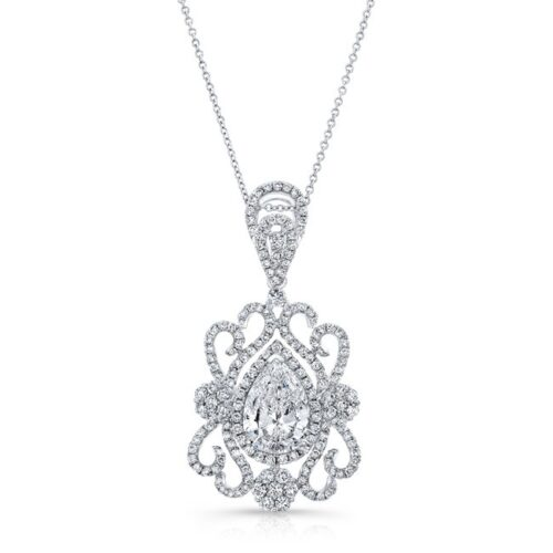 18K WHITE GOLD WHITE DIAMOND PEAR SHAPED CENTER FILIGREE PENDANT FM31097 18W 500x500 - 18K WHITE GOLD WHITE DIAMOND PEAR SHAPED CENTER FILIGREE PENDANT FM31097-18W