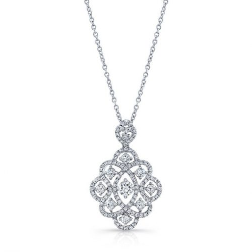 18K WHITE GOLD WHITE DIAMOND PENDANT FM31208 18W 500x499 - 18K WHITE GOLD WHITE DIAMOND PENDANT FM31208-18W