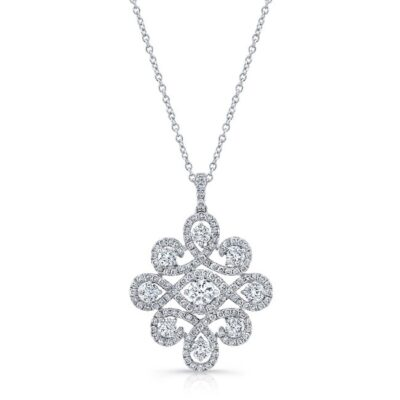 18K WHITE GOLD WHITE DIAMOND PENDANT FM31343 18W 400x400 - 18K WHITE GOLD WHITE DIAMOND PENDANT FM31343-18W