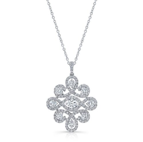 18K WHITE GOLD WHITE DIAMOND PENDANT FM31343 18W 500x499 - 18K WHITE GOLD WHITE DIAMOND PENDANT FM31343-18W