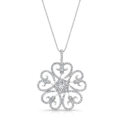 18K WHITE GOLD WHITE SWIRLING HEART DIAMOND PENDANT FM29334 W 400x400 - 18K WHITE GOLD WHITE SWIRLING HEART DIAMOND PENDANT FM29334-W