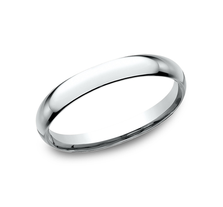 2.5MM BEAUTIFUL WHITE GOLD BAND LCF125W - 2.5MM BEAUTIFUL WHITE GOLD BAND LCF125W