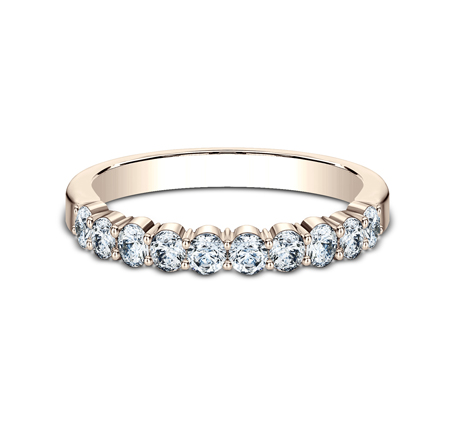 2.5MM ROSE GOLD SHARED PRONG DIAMOND BAND 5538215R 1 - 2.5MM ROSE GOLD SHARED PRONG DIAMOND BAND 5538215R