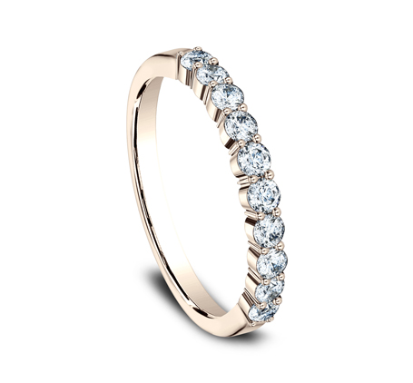 2.5MM ROSE GOLD SHARED PRONG DIAMOND BAND 5538215R 2 - 2.5MM ROSE GOLD SHARED PRONG DIAMOND BAND 5538215R