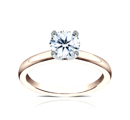 2.5MM ROSE GOLD SOLITAIREL ENGAGEMENT RING LCBSA LHRD100 R1 - 2.5MM ROSE GOLD SOLITAIREL ENGAGEMENT RING LCBSA-LHRD100-R