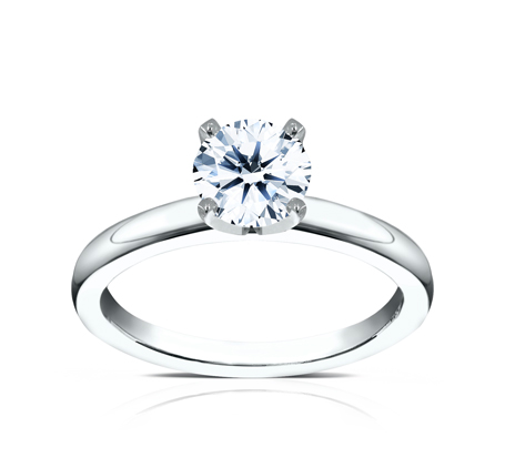 2.5MM WHITE GOLD BASIC SOLITAIREL ENGAGEMENT RING 1 - 2.5MM WHITE GOLD BASIC SOLITAIREL ENGAGEMENT RING LCBSA-LHRD100-W