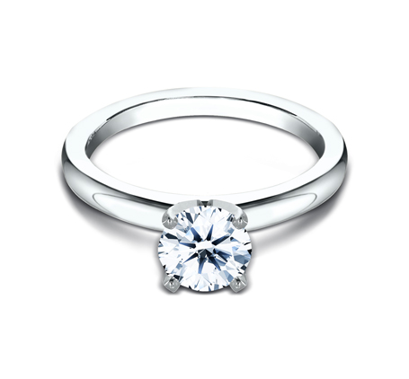 2.5MM WHITE GOLD BASIC SOLITAIREL ENGAGEMENT RING 2 - 2.5MM WHITE GOLD BASIC SOLITAIREL ENGAGEMENT RING LCBSA-LHRD100-W