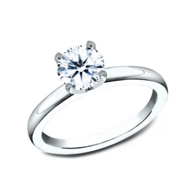 2.5MM WHITE GOLD BASIC SOLITAIREL ENGAGEMENT RING 400x400 - 2.5MM WHITE GOLD BASIC SOLITAIREL ENGAGEMENT RING LCBSA-LHRD100-W