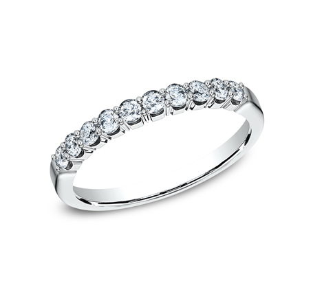 2.5MM WHITE GOLD CRESCENT SHARED PRONG DIAMOND BAND 5925344W - 2.5MM WHITE GOLD CRESCENT SHARED PRONG DIAMOND BAND  5925344W