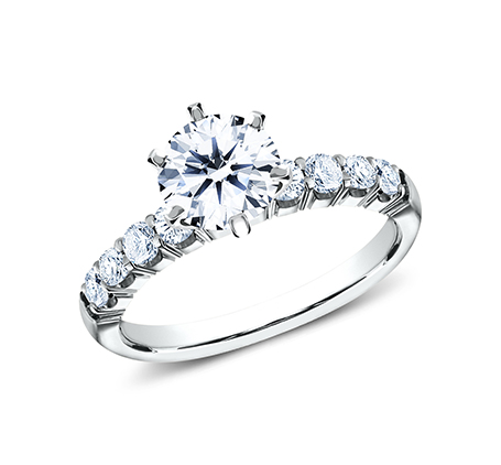 2.5MM WHITE GOLD CRESCENT SHARED PRONG ENGAGEMENT SET CSPA4 LH6PSET W 1 - 2.5MM WHITE GOLD CRESCENT SHARED PRONG ENGAGEMENT SET CSPA4-LH6PSET-W