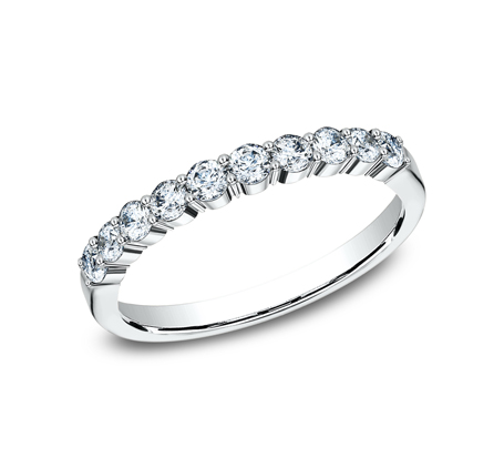 2.5MM WHITE GOLD SHARED PRONG DIAMOND BAND 5538215W - 2.5MM WHITE GOLD SHARED PRONG DIAMOND BAND 5538215W