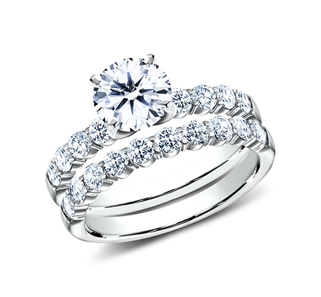 2.5MM WHITE GOLD SHARED PRONG ENGAGEMENT SET SPA6 LHSET W 3 - 2.5MM WHITE GOLD SHARED PRONG ENGAGEMENT SET SPA6-LHSET-W