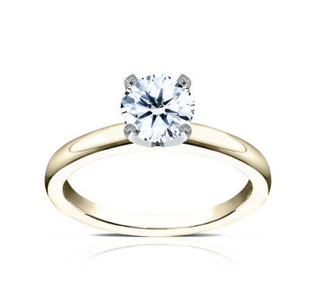 2.5MM YELLOW GOLD BASIC SOLITAIREL ENGAGEMENT RING 1 - 2.5MM YELLOW GOLD BASIC SOLITAIREL ENGAGEMENT RING LCBSA-LHRD100-Y