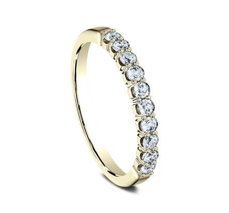 2.5MM YELLOW GOLD CRESCENT SHARED PRONG DIAMOND BAND 5925344Y 1 - 2.5MM YELLOW GOLD CRESCENT SHARED PRONG DIAMOND BAND  5925344Y