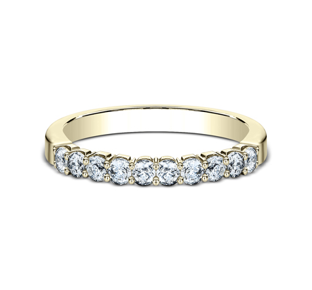 2.5MM YELLOW GOLD CRESCENT SHARED PRONG DIAMOND BAND 5925344Y 2 - 2.5MM YELLOW GOLD CRESCENT SHARED PRONG DIAMOND BAND  5925344Y