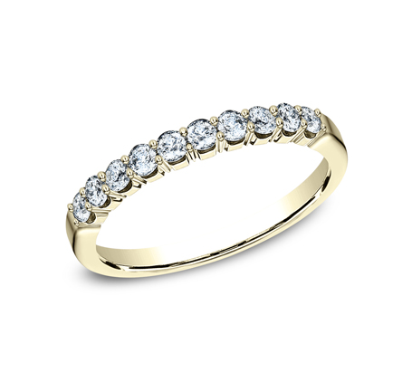 2.5MM YELLOW GOLD CRESCENT SHARED PRONG DIAMOND BAND 5925344Y - 2.5MM YELLOW GOLD CRESCENT SHARED PRONG DIAMOND BAND  5925344Y