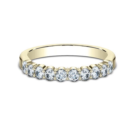 2.5MM YELLOW GOLD SHARED PRONG DIAMOND BAND 5538215Y 2 - 2.5MM YELLOW GOLD SHARED PRONG DIAMOND BAND 5538215Y