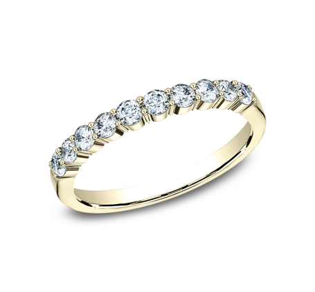 2.5MM YELLOW GOLD SHARED PRONG DIAMOND BAND 5538215Y - 2.5MM YELLOW GOLD SHARED PRONG DIAMOND BAND 5538215Y