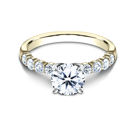 2.5MM YELLOW GOLD SHARED PRONG ENGAGEMENT SET SPA6 LHSET Y 2 - 2.5MM YELLOW GOLD SHARED PRONG ENGAGEMENT SET SPA6-LHSET-Y