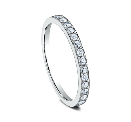 2MM PAVE SET ETERNITY DIAMOND RING 522721W 1 - 2MM PAVE SET ETERNITY DIAMOND RING 522721W