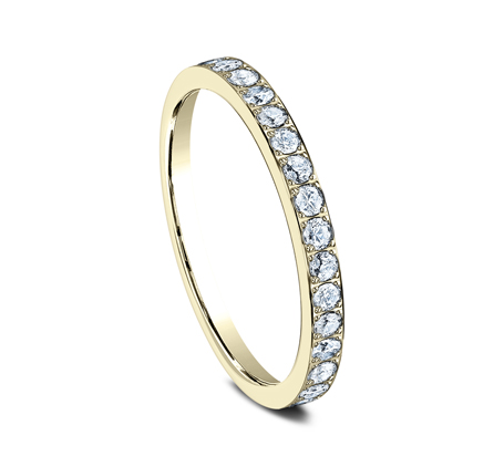 2MM PAVE SET ETERNITY DIAMOND RING 522721Y 1 - 2MM PAVE SET ETERNITY DIAMOND RING 522721Y