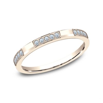 2MM ROSE GOLD DIAMOND BAND FEATURES 25 PAVE SET 522851R 400x400 - 2MM ROSE GOLD DIAMOND BAND FEATURES 25 PAVE' SET 522851R