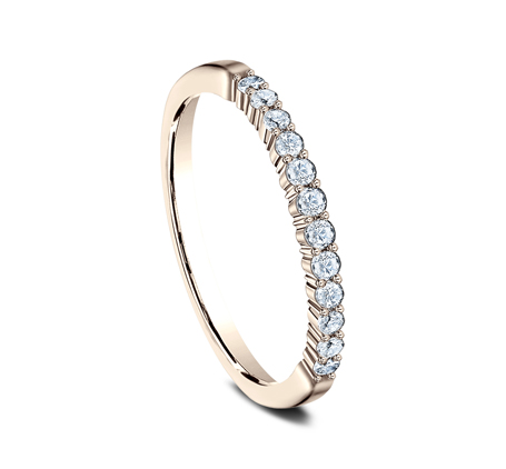 2MM ROSE GOLD SHARED PRONG DIAMOND BAND 552621R 1 - 2MM ROSE GOLD SHARED PRONG DIAMOND BAND 552621R