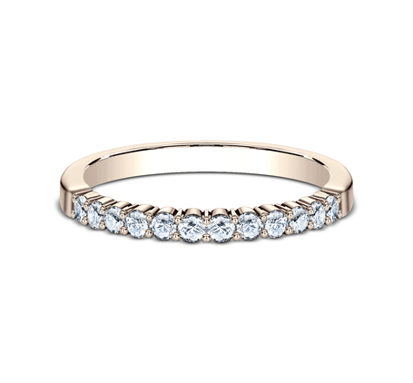 2MM ROSE GOLD SHARED PRONG DIAMOND BAND 552621R 2 - 2MM ROSE GOLD SHARED PRONG DIAMOND BAND 552621R