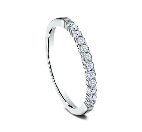 2MM WHITE GOLD SHARED PRONG DIAMOND BAND 552621W 1 - 2MM WHITE GOLD SHARED PRONG DIAMOND BAND 552621W